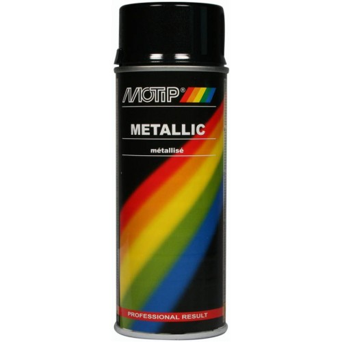 Motip Metallic Spray Paint Black 400ml